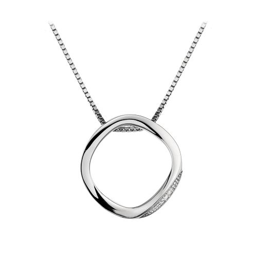 Hot Diamonds Sterling Silver Simply Sparkle Open Circle necklace DP459